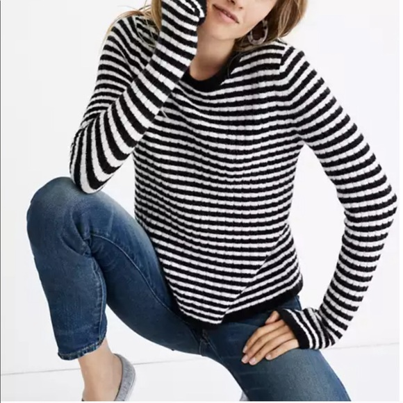 Madewell Colette Striped Soft Knit Sweater M